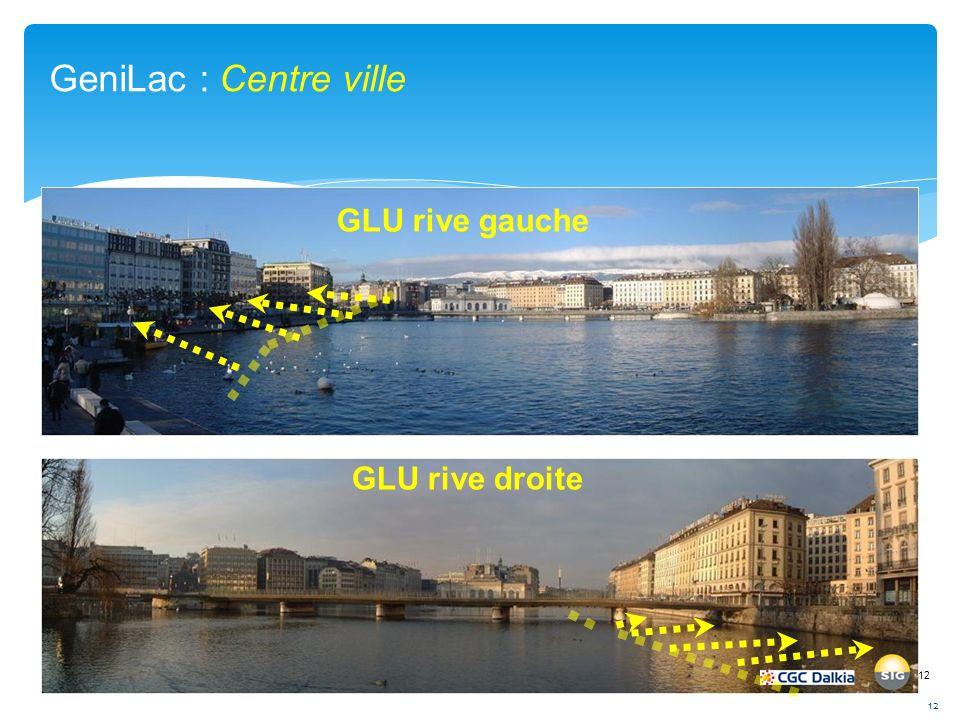 12 GLU rive gauche GLU rive droite GeniLac : Centre ville