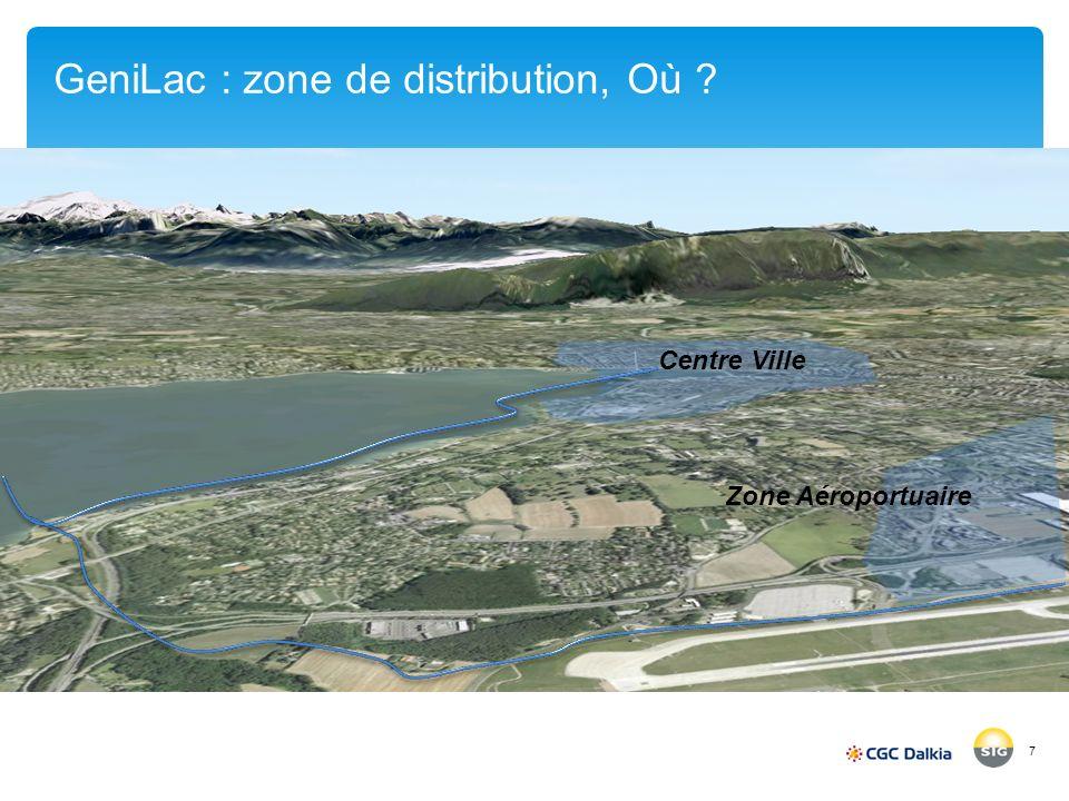 GeniLac : zone de distribution, Où ? 7 Centre Ville Zone Aéroportuaire