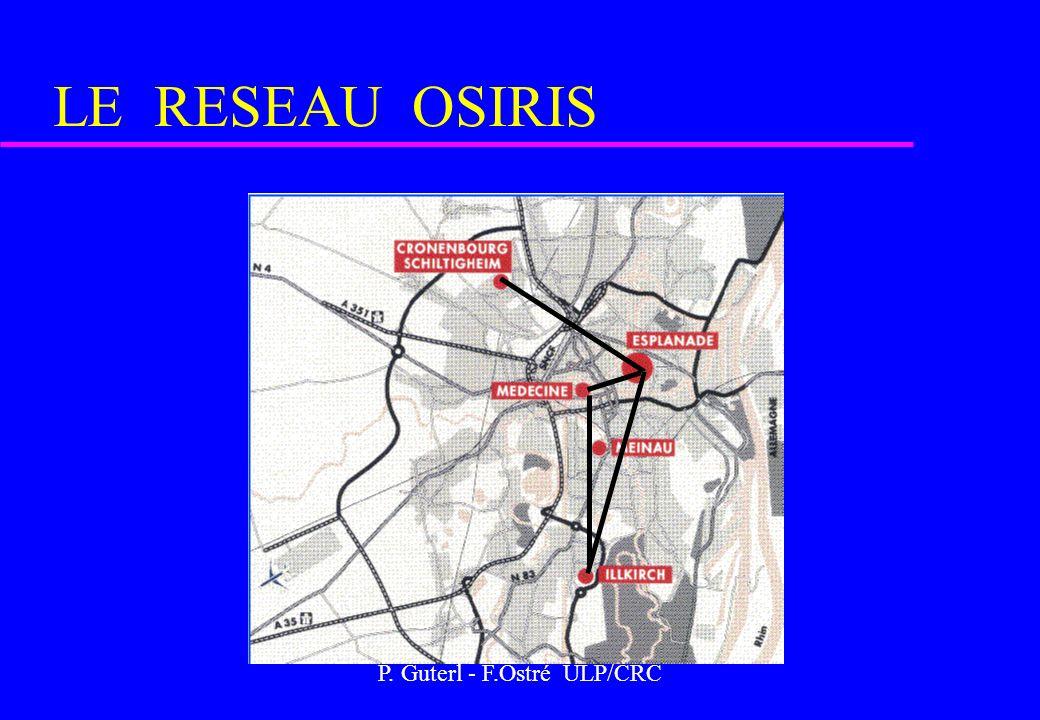 P. Guterl - F.Ostré ULP/CRC LE RESEAU OSIRIS