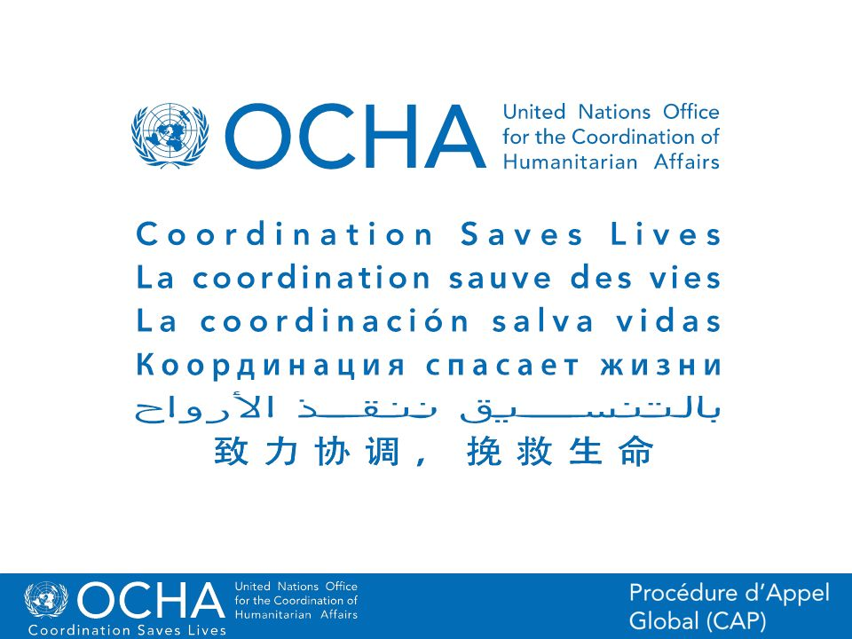46Office for the Coordination of Humanitarian Affairs (OCHA) CAP (Consolidated Appeal Process) Section
