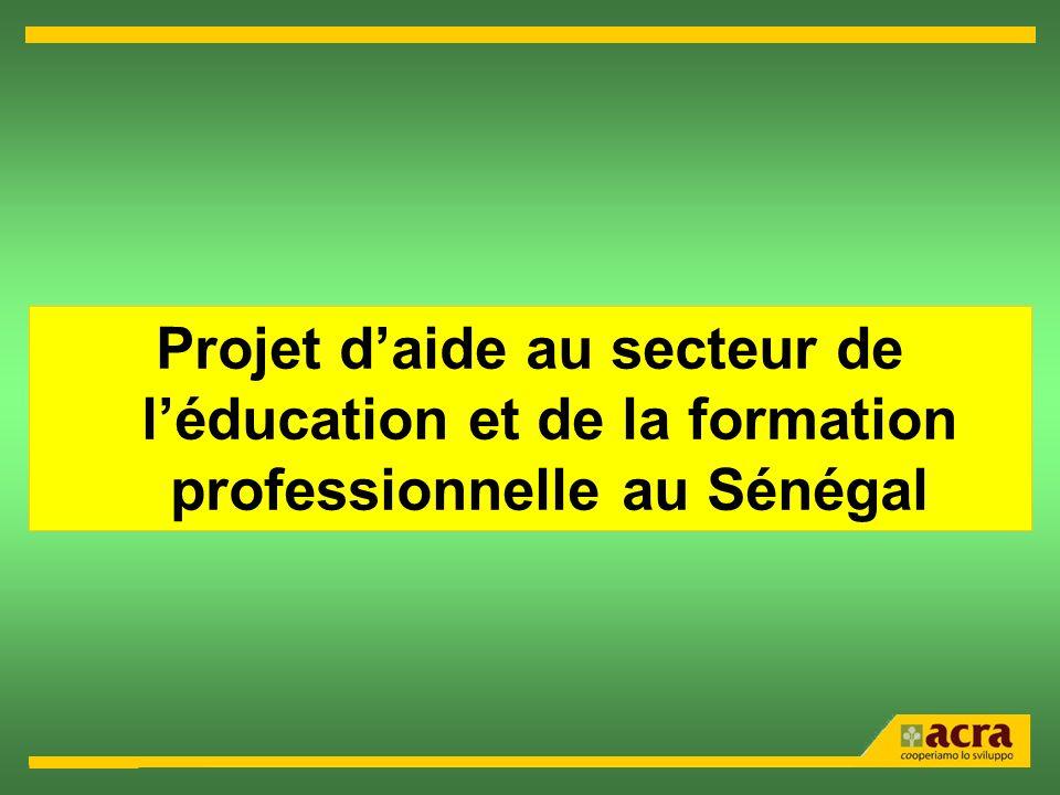 Projet daide au secteur de léducation et de la formation professionnelle au Sénégal