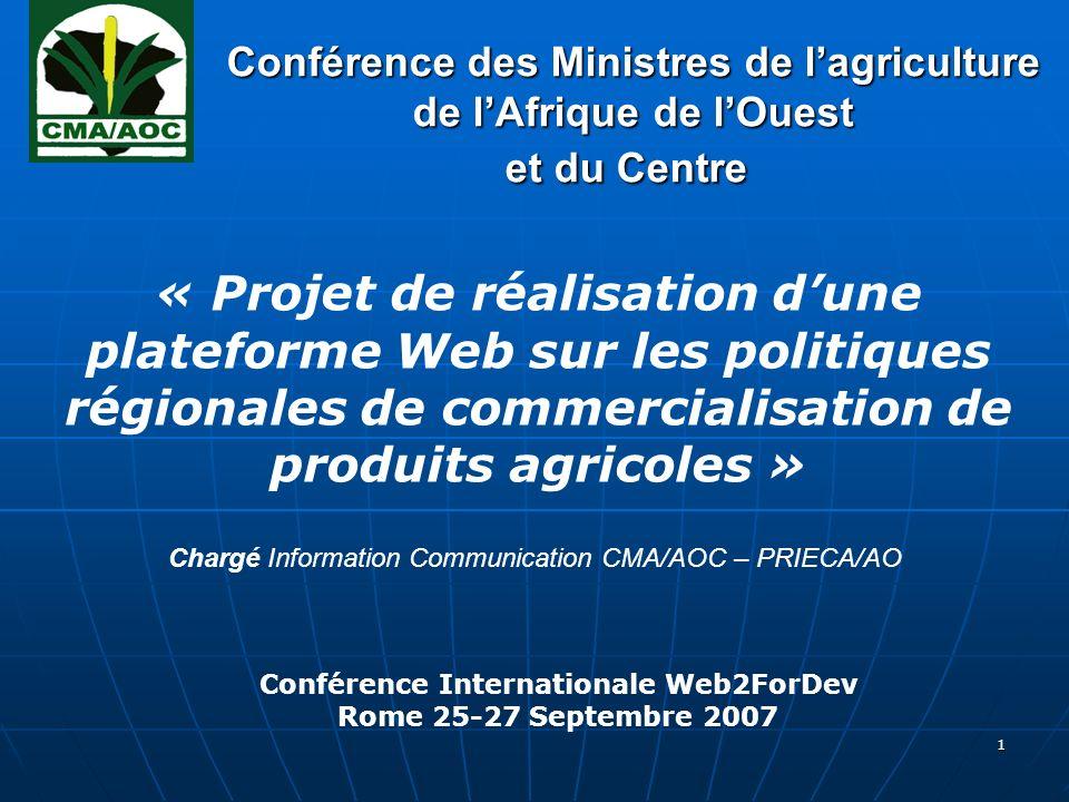 2 Plan de présentation 1.1. Présentation de la CMA/AOC 2.