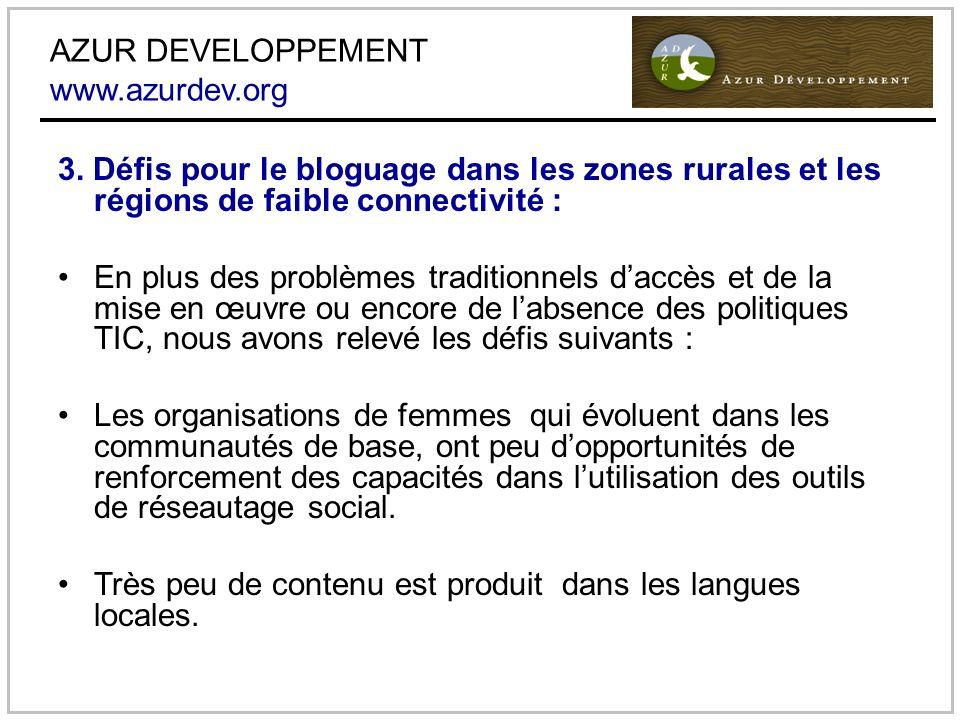AZUR DEVELOPPEMENT www.azurdev.org 3.