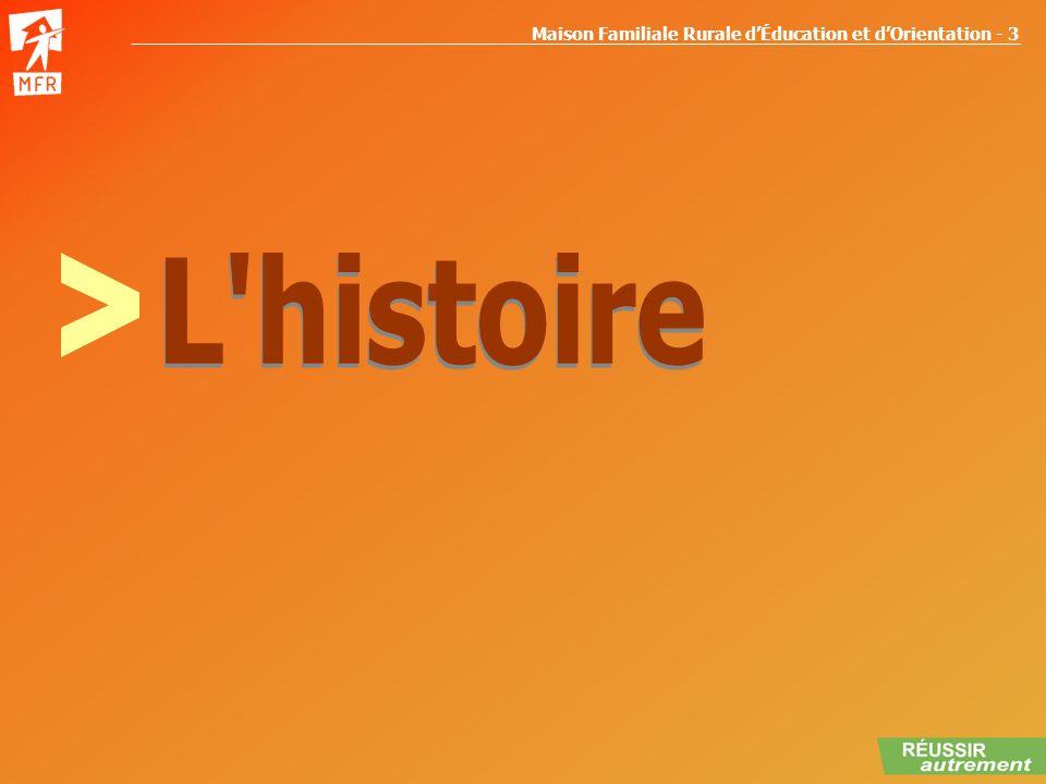 Maison Familiale Rurale dÉducation et dOrientation - 3 HISTOIRE