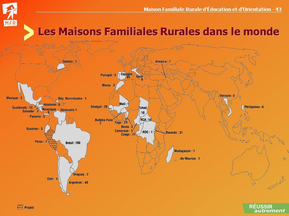Maison Familiale Rurale dÉducation et dOrientation - 43 Les Maisons Familiales Rurales dans le monde