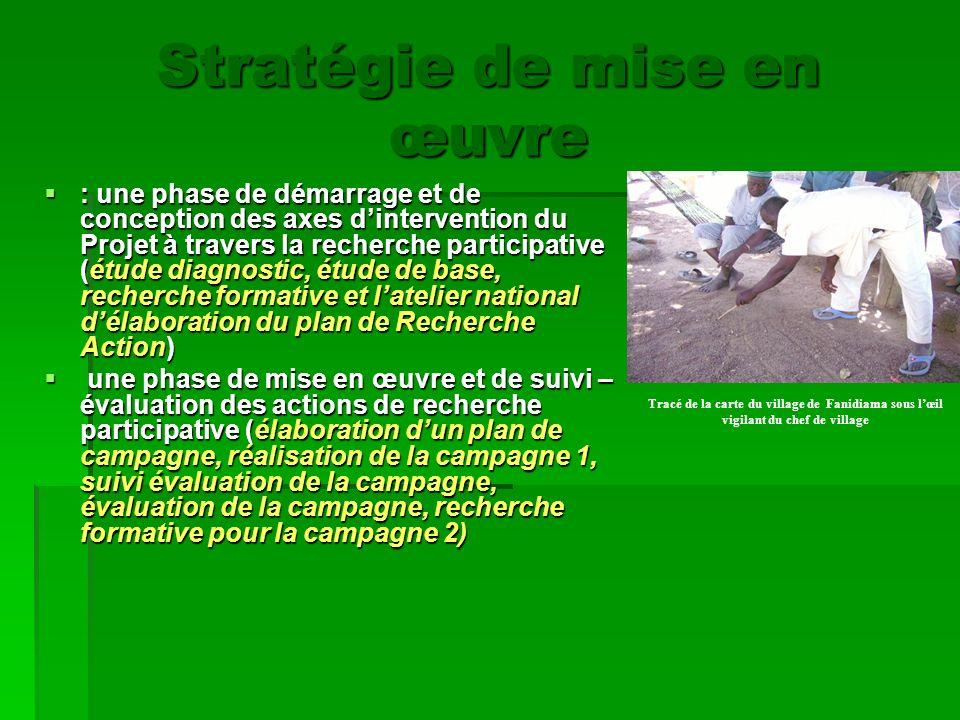 : une phase de démarrage et de conception des axes dintervention du Projet à travers la recherche participative (étude diagnostic, étude de base, rech