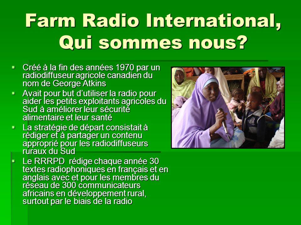Farm Radio International, Qui sommes nous.