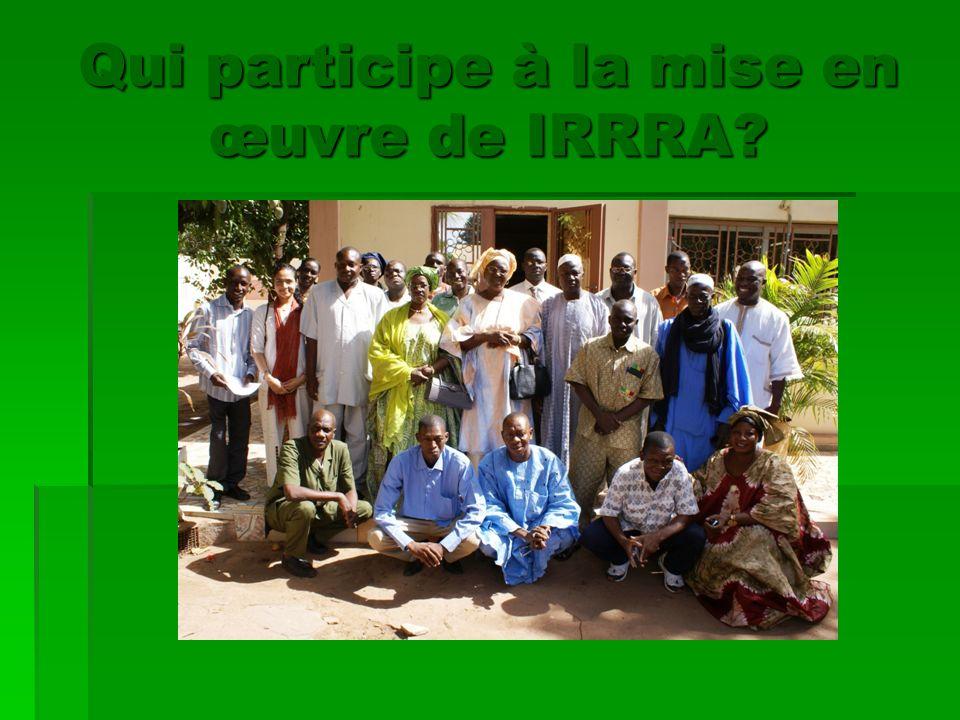 Qui participe à la mise en œuvre de IRRRA?