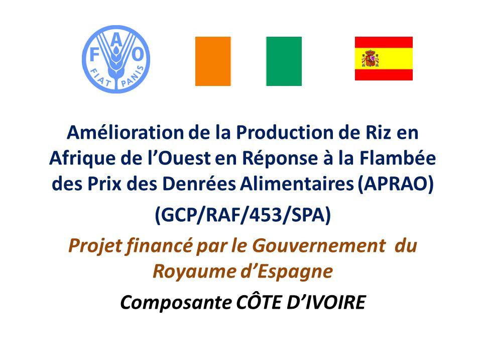 Amélioration de la Production de Riz en Afrique de lOuest en Réponse à la Flambée des Prix des Denrées Alimentaires (APRAO) (GCP/RAF/453/SPA) Projet f