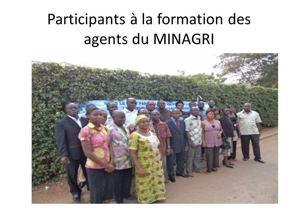 Participants à la formation des agents du MINAGRI