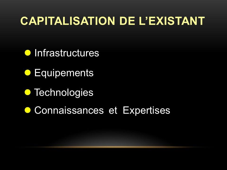CAPITALISATION DE LEXISTANT Infrastructures Equipements Technologies Connaissances et Expertises