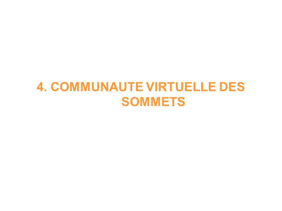 4. COMMUNAUTE VIRTUELLE DES SOMMETS