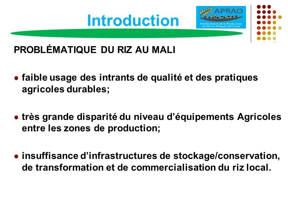 Introduction (suite) JUSTIFICATIONS Accent mis sur le développement de lAgriculture en tant que moteur de la croissance du pays; 2006: Loi dOrientation Agricole (LOA) avec pour objectif de moderniser les exploitations Agricoles.