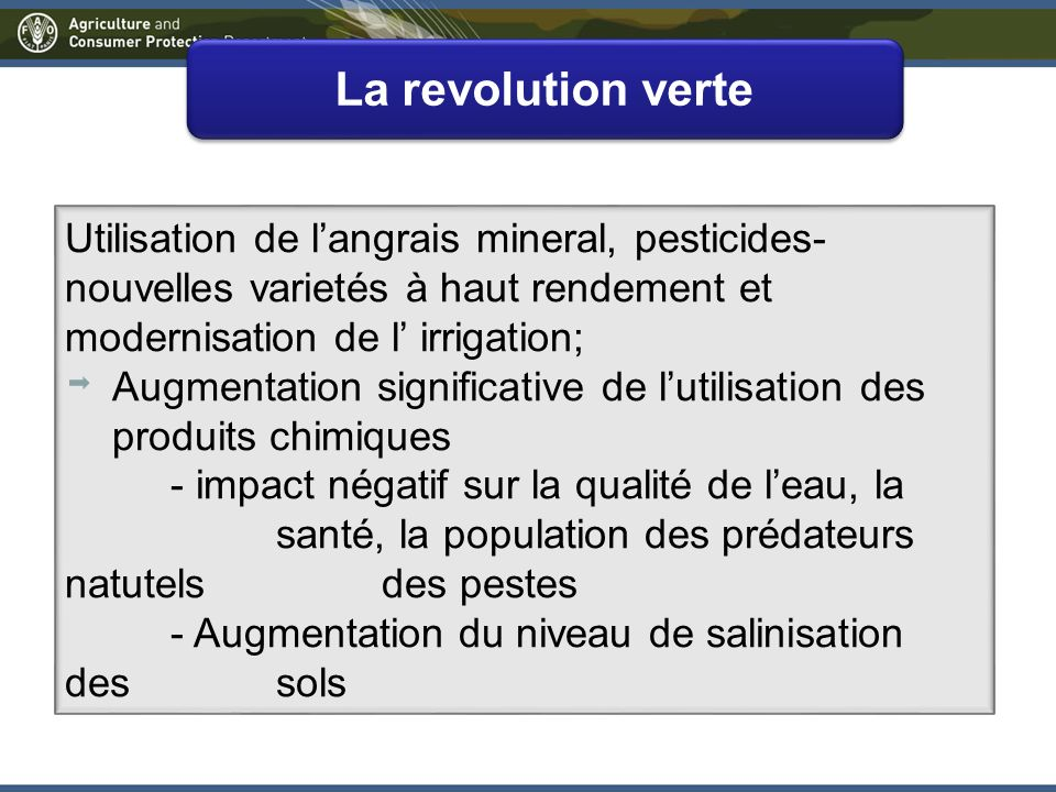 Un nouveau paradigm: Intensification durable de la production des cultures