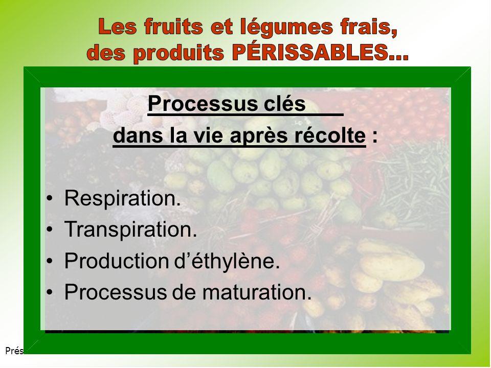 Présentation 3.2 Fruits : 85-95 % dhumidité relative.