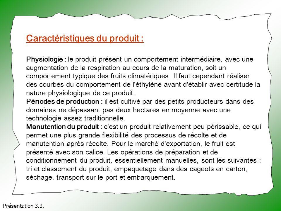 Présentation 3.3. Caractéristiques du produit : Physiologie : le produit présent un comportement intermédiaire, avec une augmentation de la respiratio