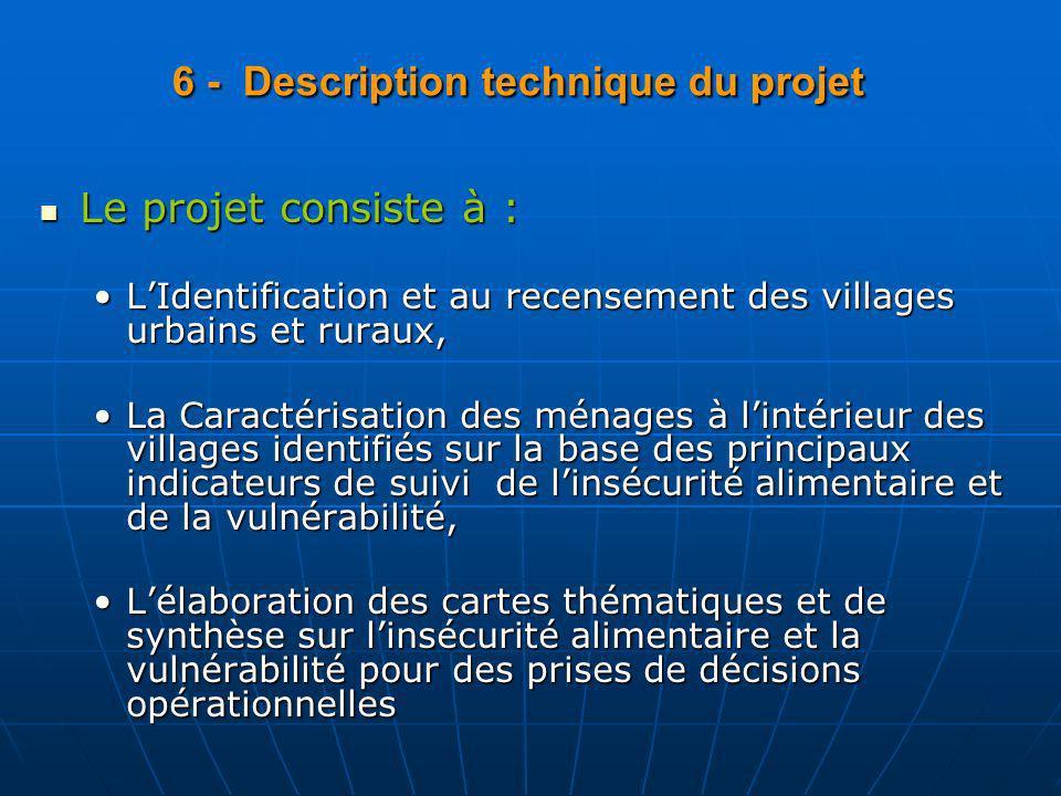 6 - Description technique du projet 6 - Description technique du projet Le projet consiste à : Le projet consiste à : LIdentification et au recensemen