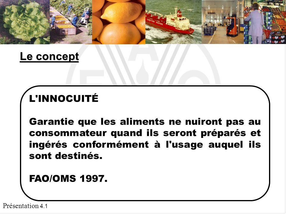 Présentation 4.1 LIMPORTANCE DE LINNOCUITÉ DES FRUITS ET LÉGUMES FRAIS