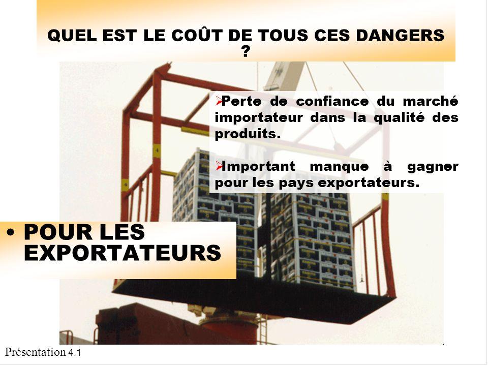Présentation 4.1 QUEL EST LE COÛT DE TOUS CES DANGERS .