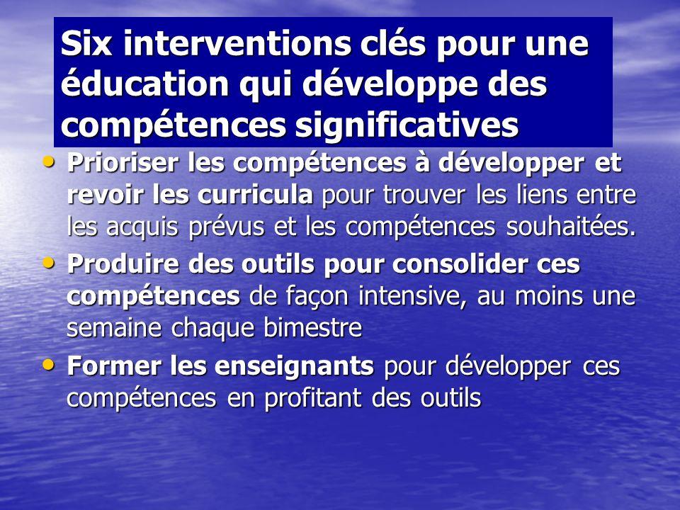 Éducation et développement (suite) Quest-ce quun élève doit pouvoir réaliser très concrètement en fin de la scolarité obligatoire ? A quelles situatio