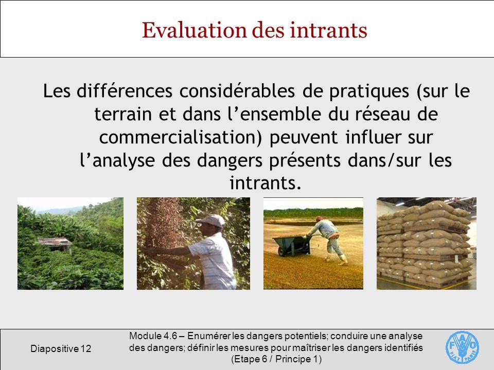 Diapositive 12 Module 4.6 – Enumérer les dangers potentiels; conduire une analyse des dangers; définir les mesures pour maîtriser les dangers identifi