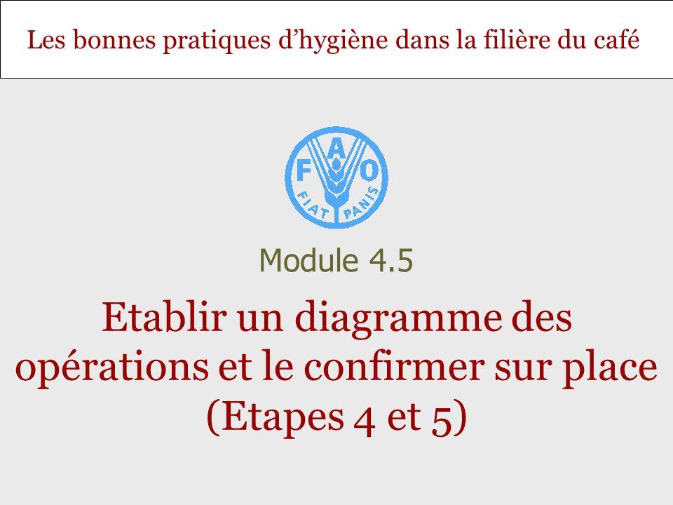 Les bonnes pratiques dhygiène dans la filière du café Etablir un diagramme des opérations et le confirmer sur place (Etapes 4 et 5) Module 4.5