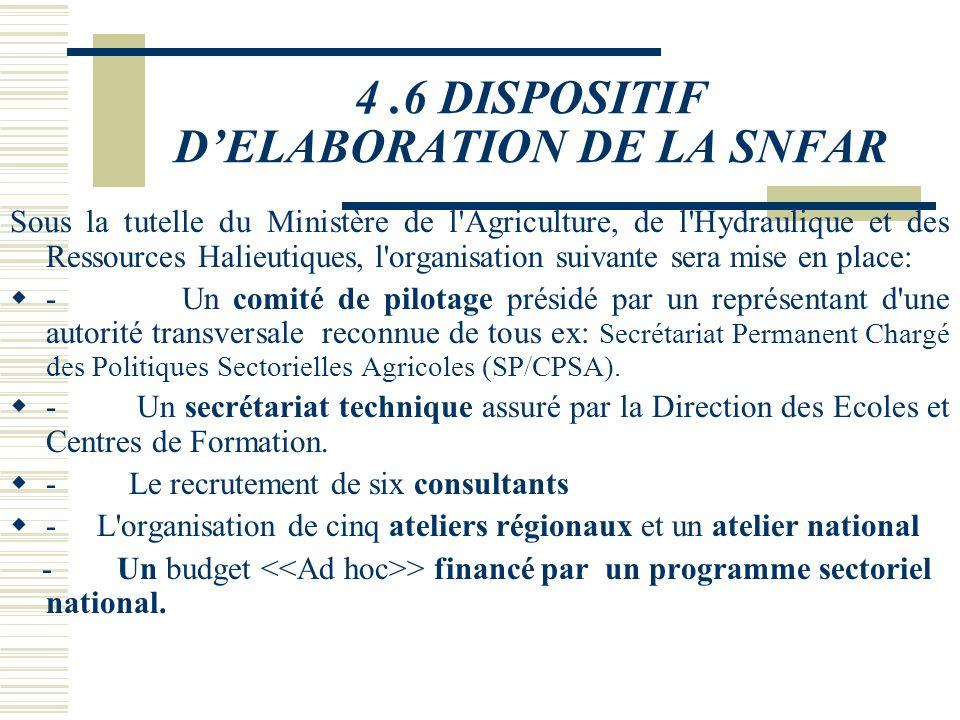L'ELABORATION DE LA STRATEGIE NATIONALE DE FORMATION AGRICOLE DE MASSE NECESSITE(2) Une régionalisation du dispositif pour faciliter son intégration d
