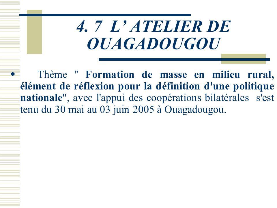 4.6 DISPOSITIF DELABORATION DE LA SNFAR Sous la tutelle du Ministère de l'Agriculture, de l'Hydraulique et des Ressources Halieutiques, l'organisation