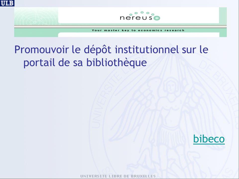 Promouvoir le dépôt institutionnel sur le portail de sa bibliothèque bibeco