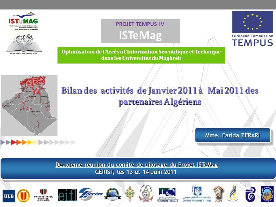 Enquete : Enquete : Etude de l état de l accès à l IST dans les universités du Maghreb Enquete : Enquete : Etude de l état de l accès à l IST dans les universités du Maghreb Bilan des questionnaires « Enseignants-Chercheurs et Doctorants » pour le Maroc