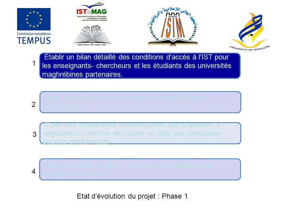 Projet CRDF Les Universités tunisiennes et le CNUDST nont pas de convention ou de contrats avec le CRDF.