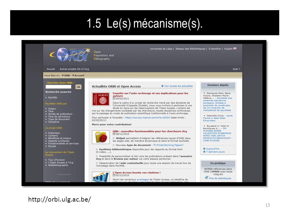 1.5 Le(s) mécanisme(s). 13 http://orbi.ulg.ac.be/