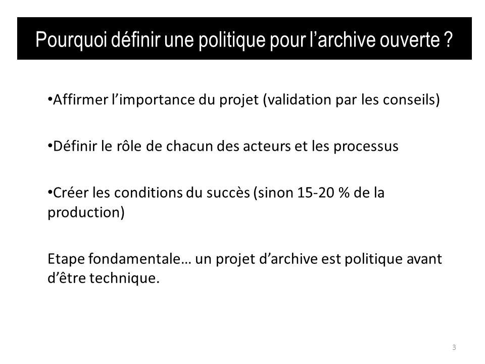 1.5 Le(s) mécanisme(s). 14 http://roarmap.eprints.org/