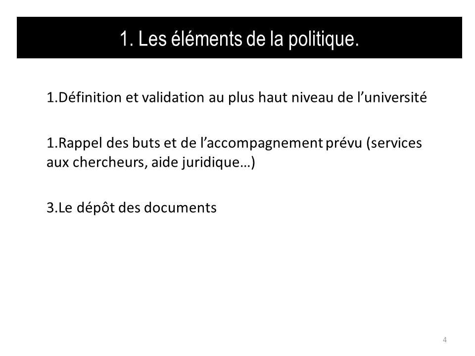 1.3 Le dépôt des documents Quel type de document doit être déposé .
