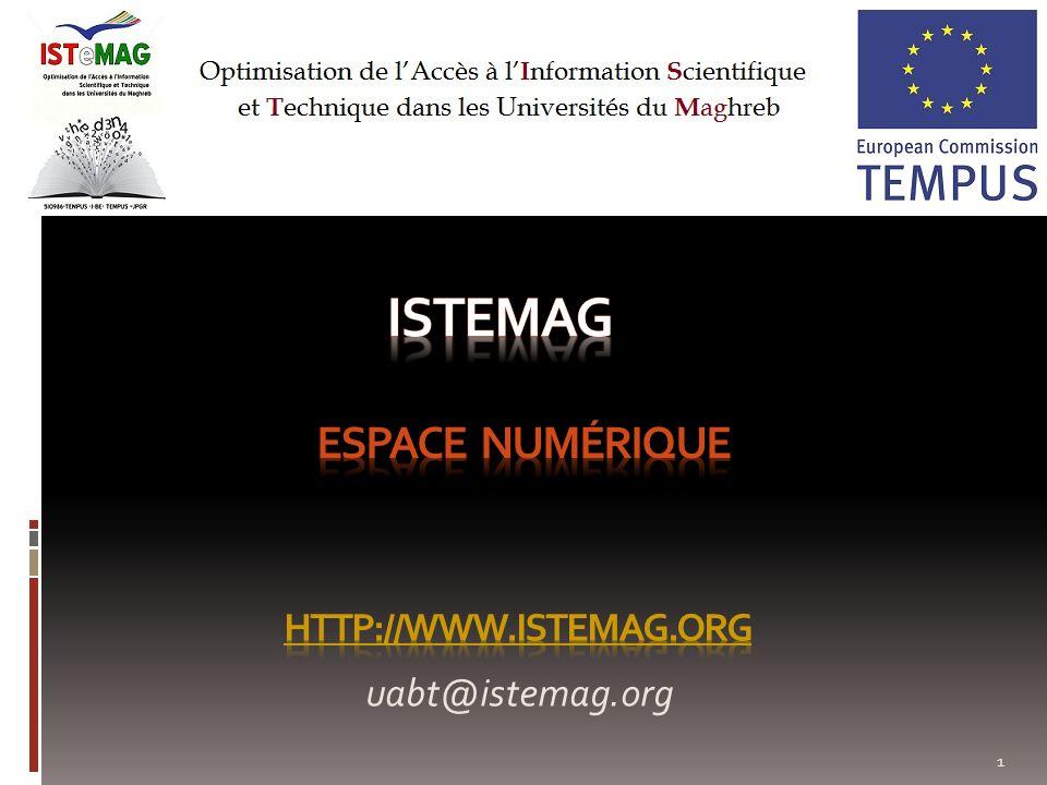 12 4.Espace membre Un espace réservé (pour chaque pays) au dépôt de contenu (administration du contenu).