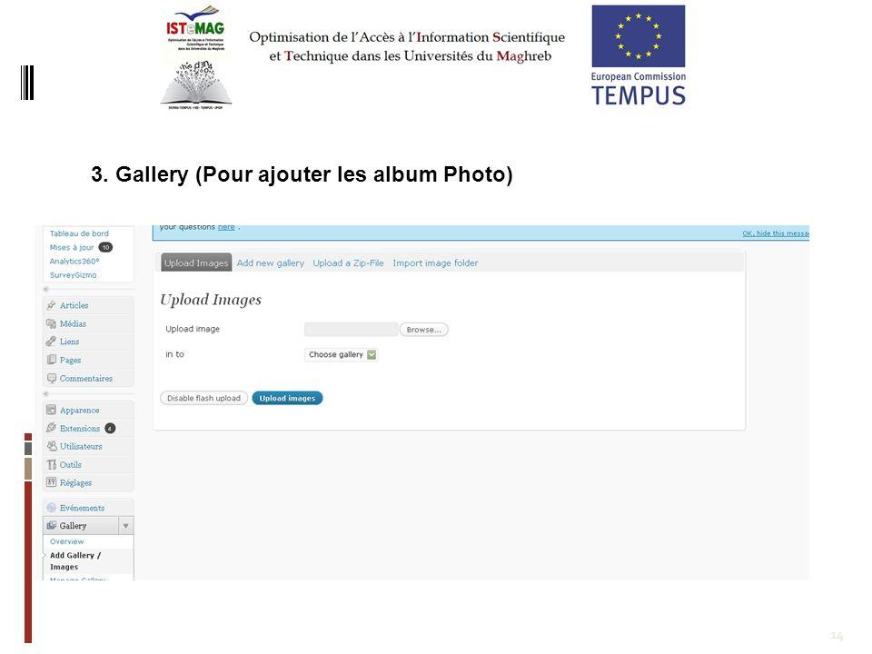 14 8.Adopter une démarche participative pour lélaboration du contenu à travers un forum modéré par lanimateur du site web.