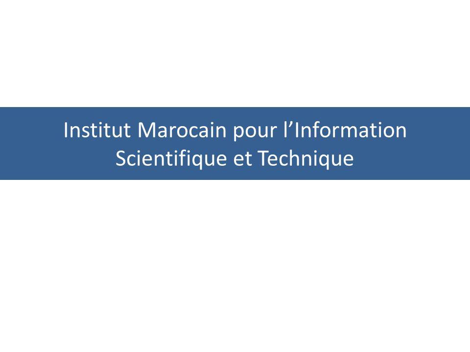 Institut Marocain pour lInformation Scientifique et Technique
