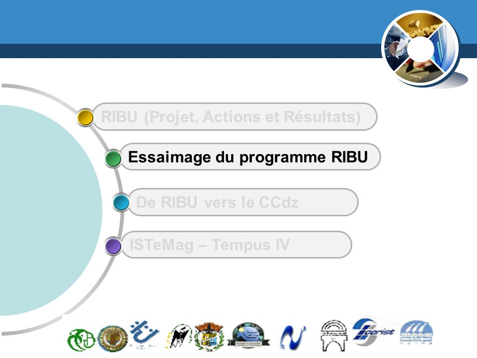 www.thmemgallery.com Company Logo ISTeMag – Tempus IV De RIBU vers le CCdz Essaimage du programme RIBU RIBU (Projet, Actions et Résultats)