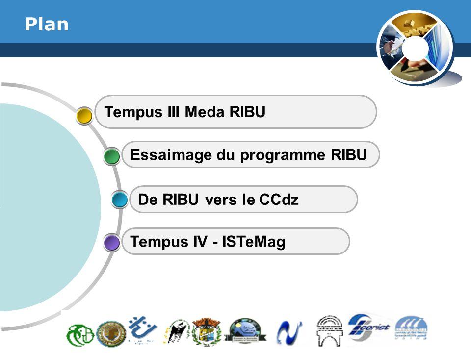 www.thmemgallery.com Company Logo Plan Tempus III Meda RIBU Essaimage du programme RIBU De RIBU vers le CCdz Tempus IV - ISTeMag