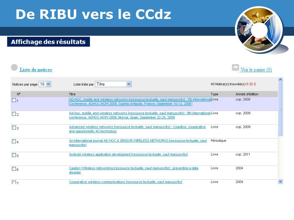 www.thmemgallery.com Company Logo De RIBU vers le CCdz Affichage des résultats