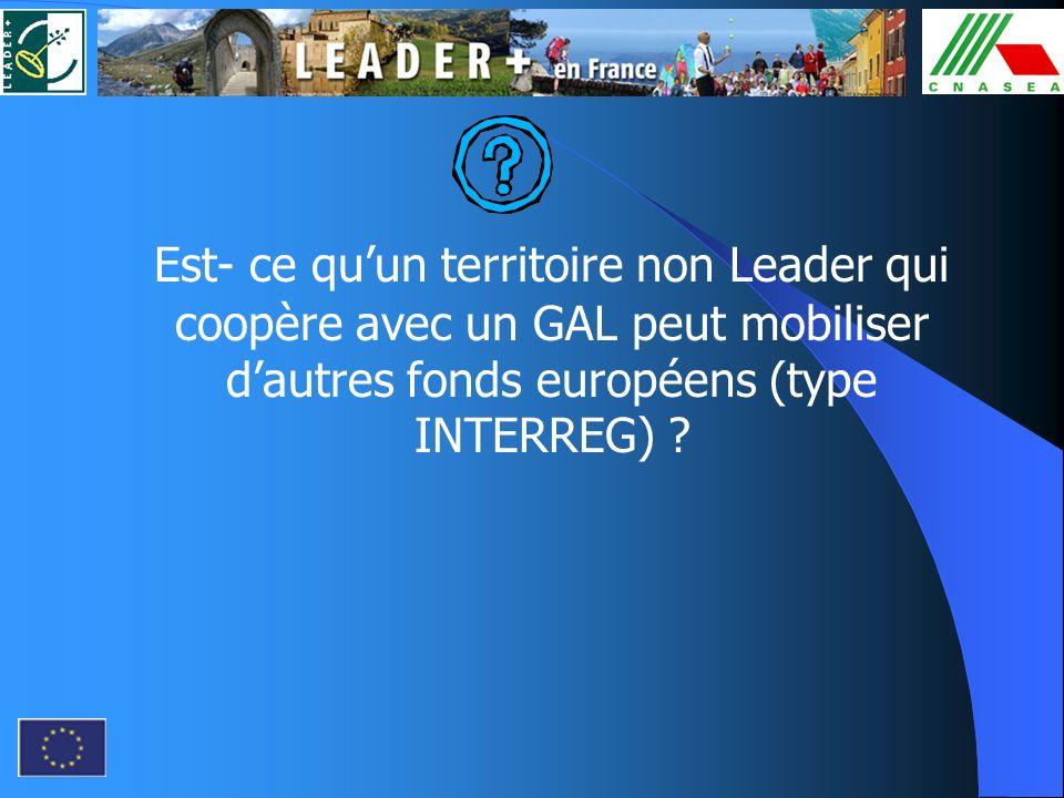 Est- ce quun territoire non Leader qui coopère avec un GAL peut mobiliser dautres fonds européens (type INTERREG) ?