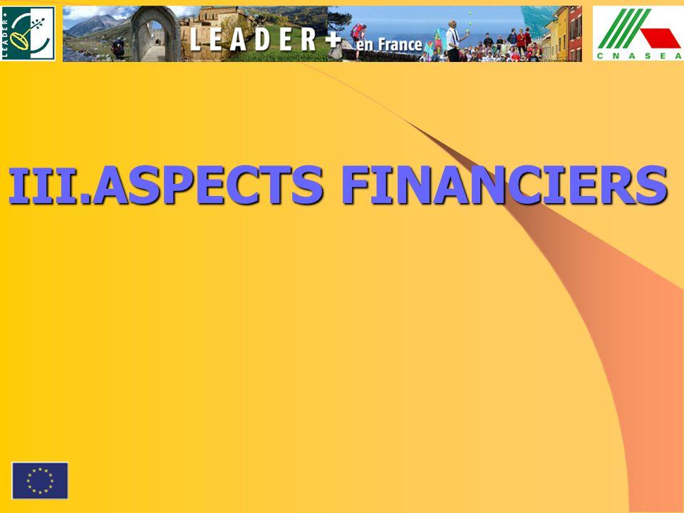 III. ASPECTS FINANCIERS