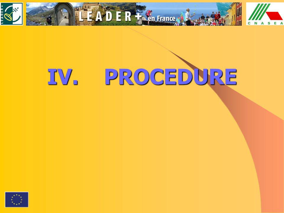 IV.PROCEDURE