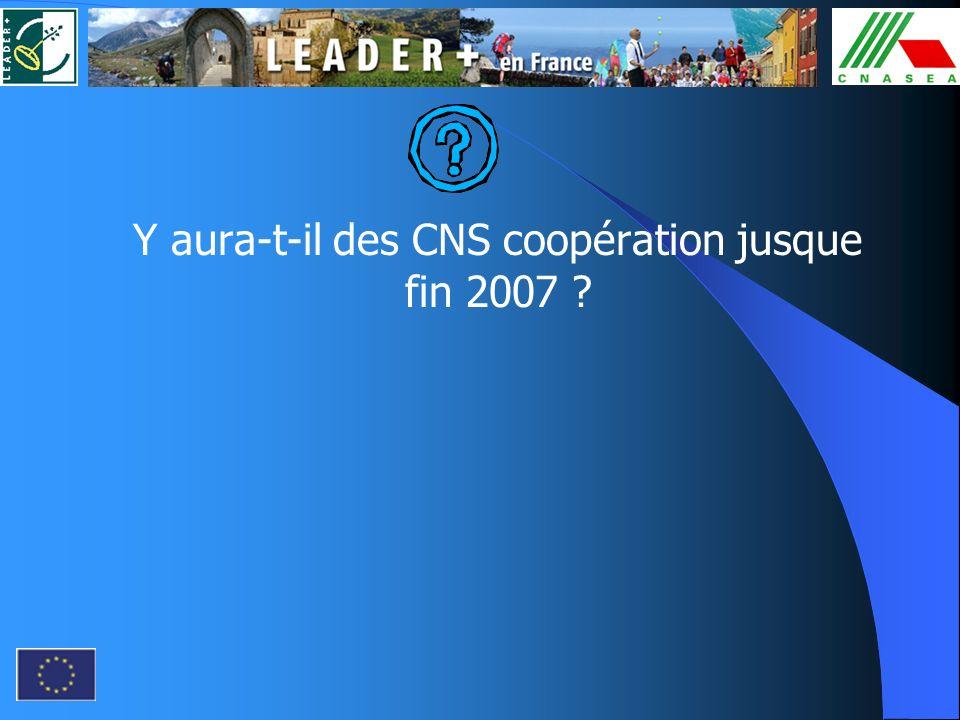 Y aura-t-il des CNS coopération jusque fin 2007 ?