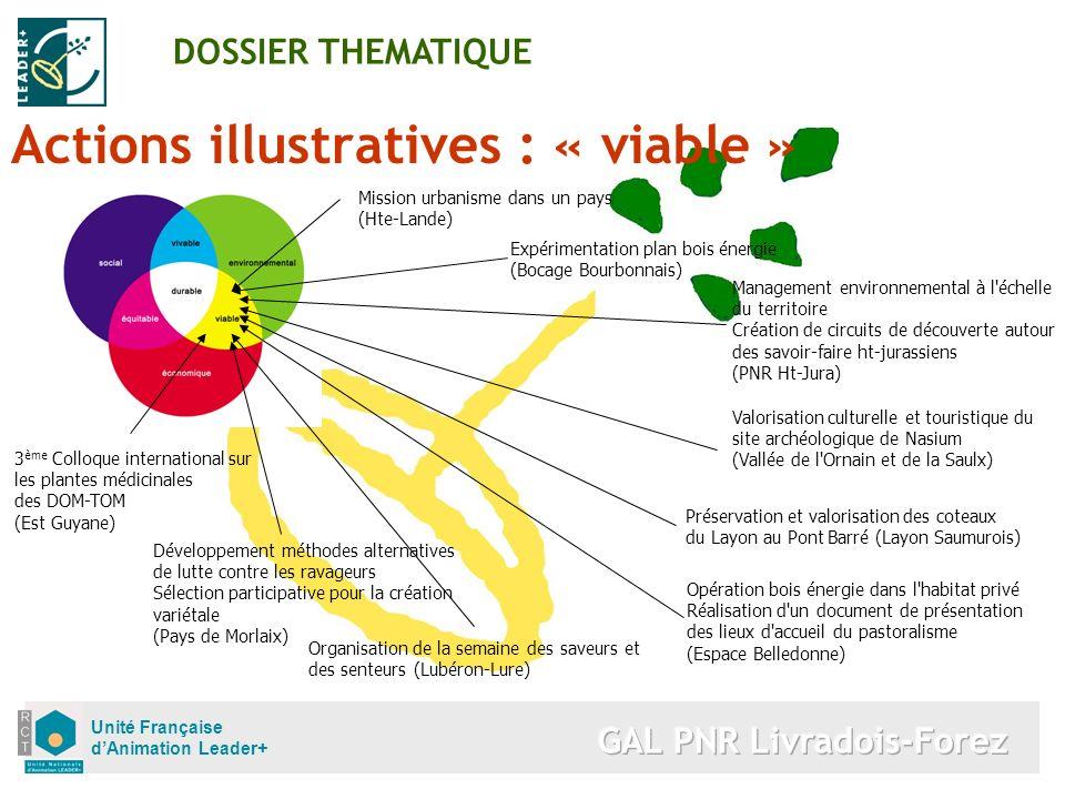 Unité Française dAnimation Leader+ Actions illustratives : « viable » DOSSIER THEMATIQUE Mission urbanisme dans un pays (Hte-Lande) Expérimentation pl