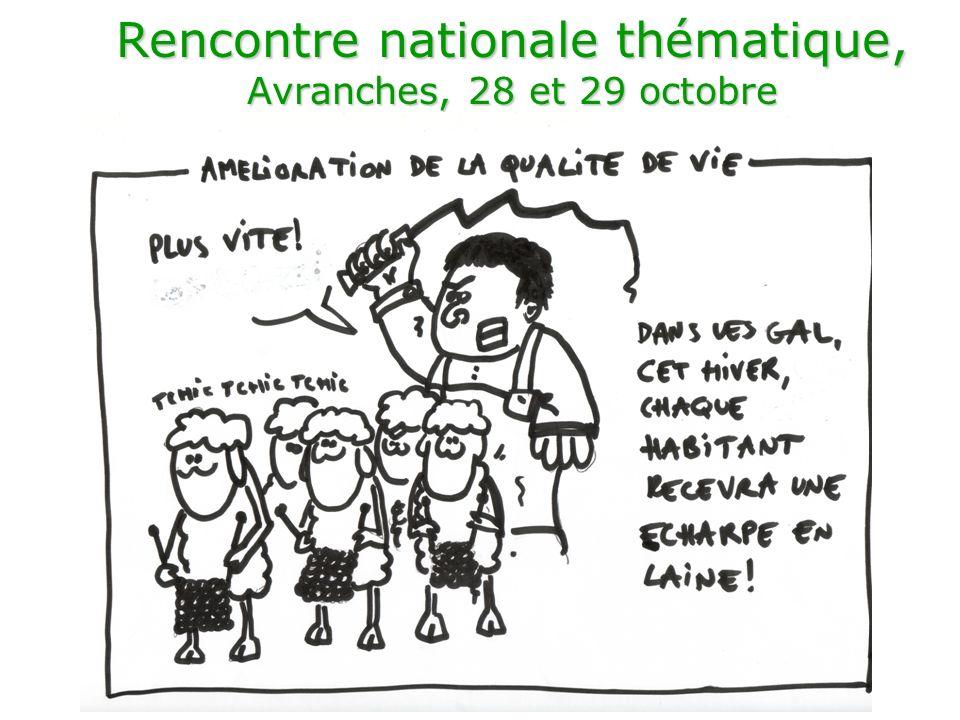Rencontre nationale thématique, Avranches, 28 et 29 octobre