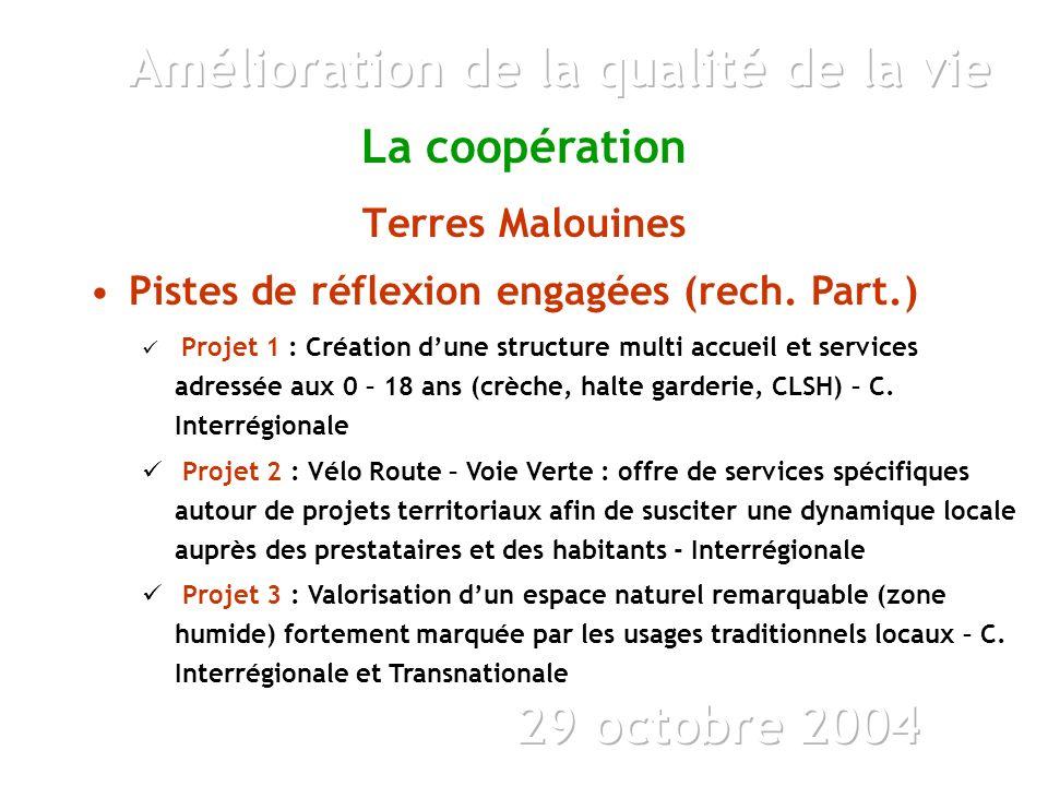 La coopération Terres Malouines Pistes de réflexion engagées (rech.
