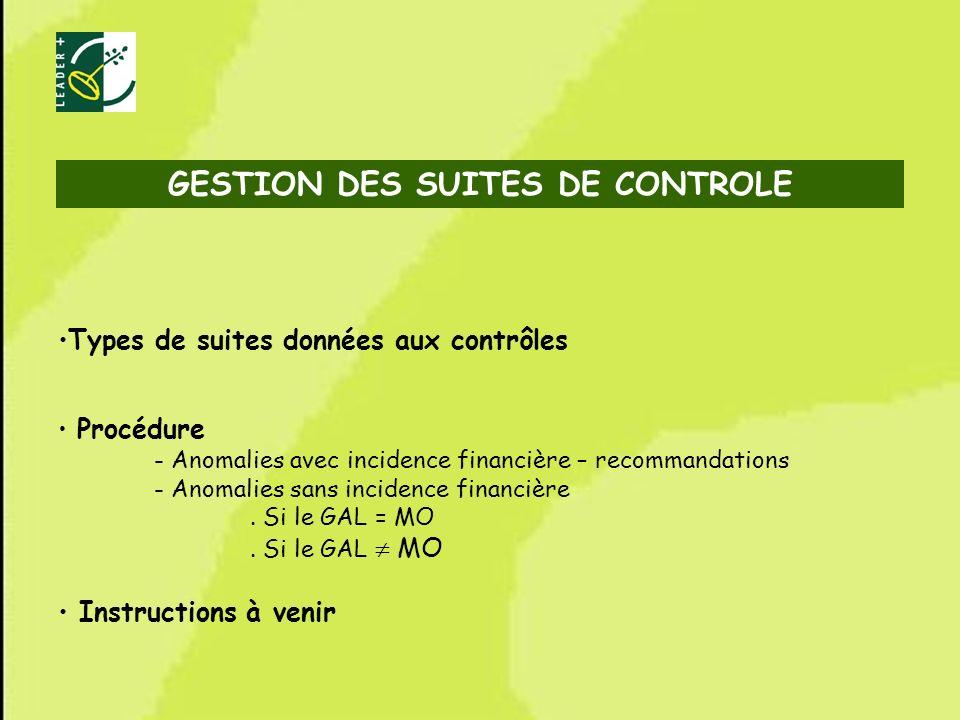 68 Types de suites données aux contrôles Procédure - Anomalies avec incidence financière – recommandations - Anomalies sans incidence financière. Si l
