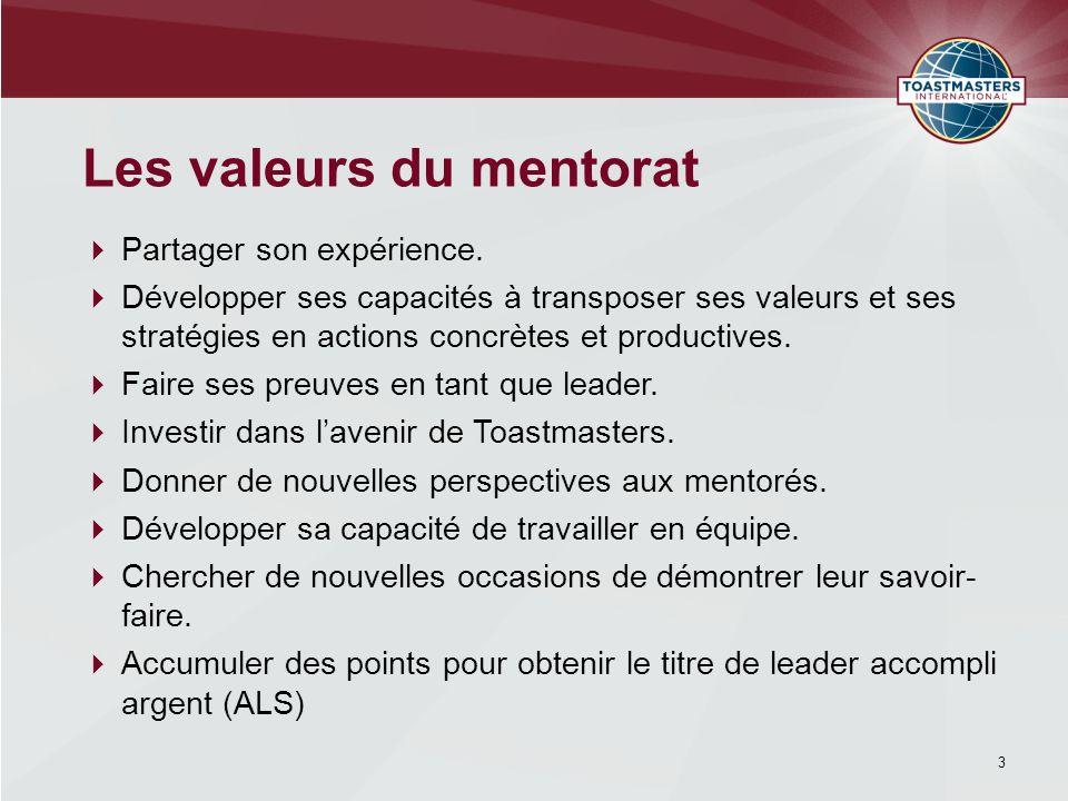 Des rencontres de qualité Les mentors et parrains désignés assistent à CHAQUE rencontre.