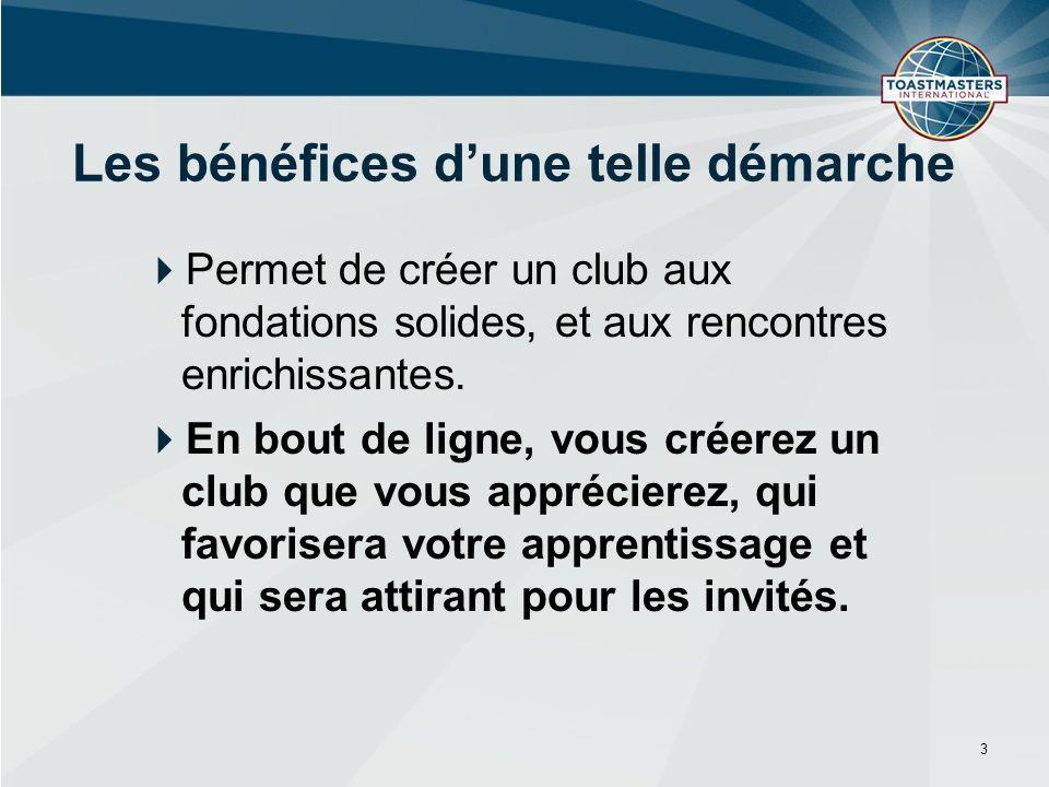Permet de créer un club aux fondations solides, et aux rencontres enrichissantes.